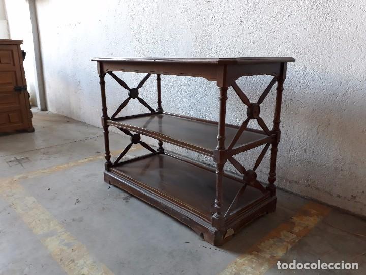 Good BONITO LIBRERO ANTIGUO ESTILO ROMANO, ESTANTERÍA ANTIGUA, MUEBLE ANTIGUO  RETRO VINTAGE (Antigüedades