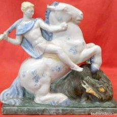 Antigüedades: SENSACIONAL FIGURA EN PORCELANA DE MANUFACTURA ALEMANA (FRECHEN) AÑOS 30. ART-DECO. Lote 97670651
