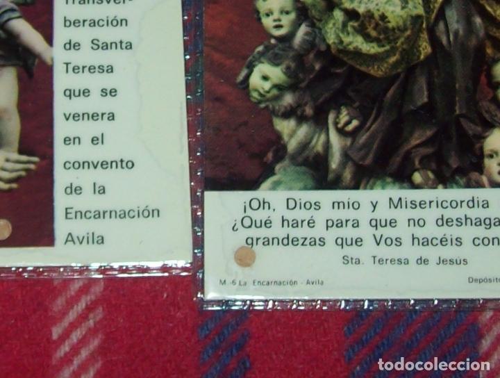 Antigüedades: LOTE DE RELIQUIAS DE SANTA TERESA DE JESÚS. UNA VERDADERA JOYA!!!!!!!!. VER FOTOS - Foto 3 - 97676411