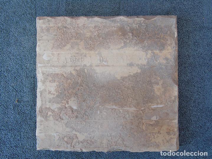 Antigüedades: ANTIGUO AZULEJO. AZUL Y BLANCO. SELLO: FABRICA DE SAN PIO V - Foto 2 - 97691015