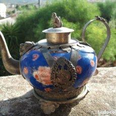 Antigüedades: PRECIOSA TETERA CHINA DE COLECCIÓN DE PORCELANA EN EXCELENTE ESTADO. Lote 97694535