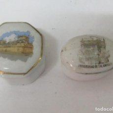 Antigüedades: 2 CAJITAS PEQUEÑAS DE PORCELANA. Lote 97697143