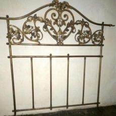 Antigüedades: CAMA ISABELINA DE METAL. PEYTON & PEYTON.. Lote 97708075
