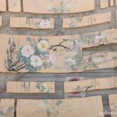 Antigüedades: EXTRAORDINARIA COLCHA SEDA BORDADA MANILA FILIPINAS SIGLO XIX FONDO MARFIL FLORES PÁJAROS PUNTILLAS. Lote 97713659
