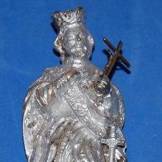 Antigüedades: FIGURA DE PLOMO DE SAN LUIS REY. Lote 97740815
