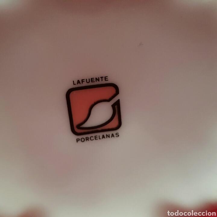 Antigüedades: BOMBONERA PORCELANA LAFUENTE DECORACIÓN ORO DE LEY - Foto 6 - 97765327