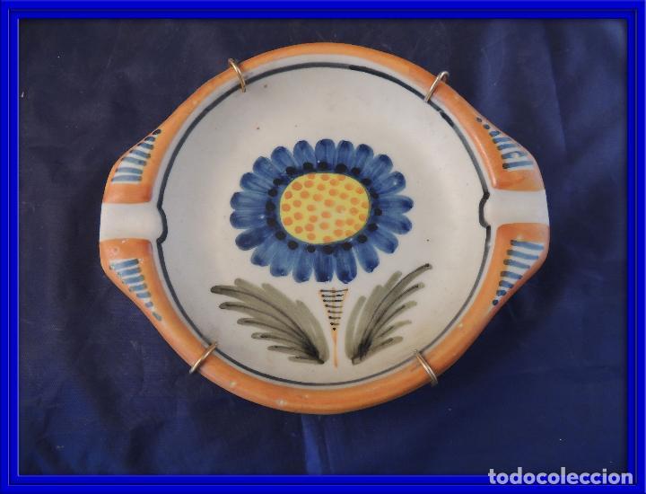 CENICERO CERAMICA CHACON DE TALAVERA (Antigüedades - Porcelanas y Cerámicas - Talavera)