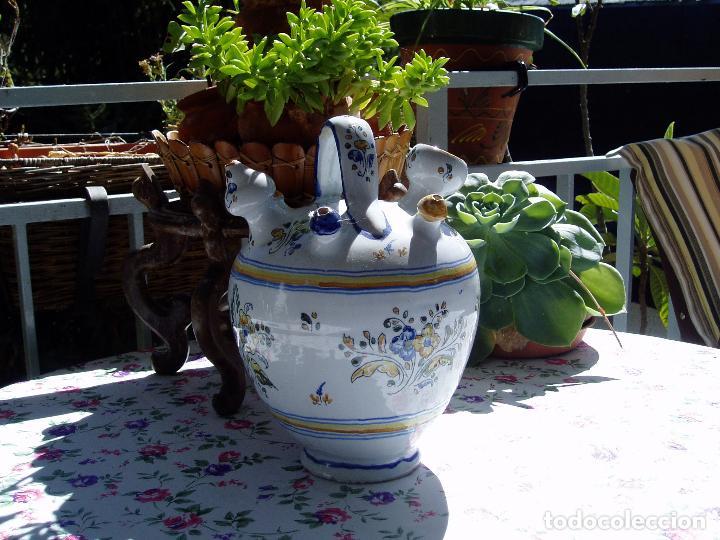 BOTIJO DE ENGAÑO ENLUCIDO DE TALAVERA (Antigüedades - Porcelanas y Cerámicas - Talavera)