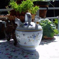 Antigüedades: BOTIJO DE ENGAÑO ENLUCIDO DE TALAVERA. Lote 95879871