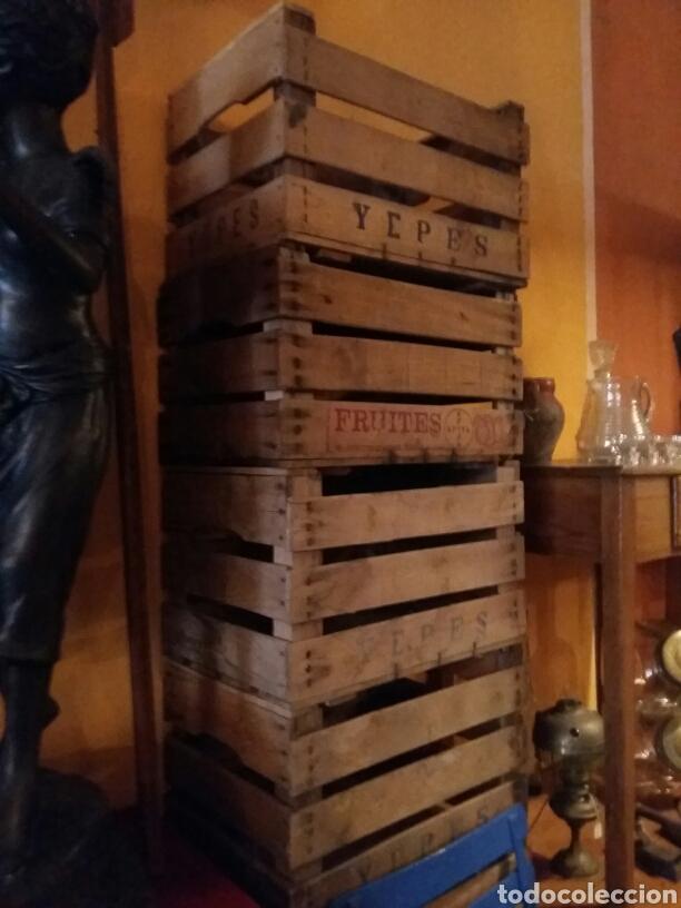 LOTE DE 4 CAJAS ANTIGUAS DE MADERA (Antigüedades - Técnicas - Rústicas - Agricultura)