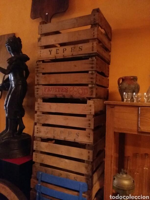 Antigüedades: Lote de 4 cajas antiguas de madera - Foto 2 - 97787760