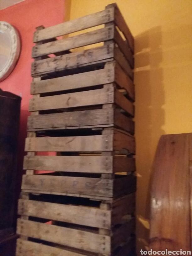 Antigüedades: Lote de 4 cajas antiguas de madera - Foto 3 - 97787760