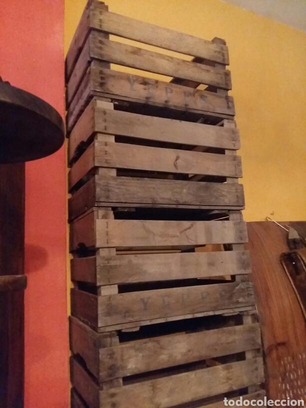 Antigüedades: Lote de 4 cajas antiguas de madera - Foto 4 - 97787760
