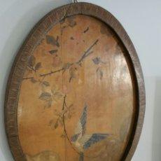 Antigüedades: ANTIGUA BANDEJA MODERNISTA EN MADERA PINTADA. Lote 97803864