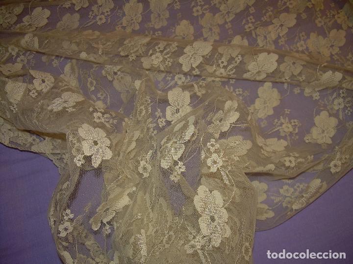 Antigüedades: ANTIGUA MANTILLA O VELO DE NOVIA...SIGLO XIX...PERFECTO ESTADO DE CONSERVACION. - Foto 2 - 97809159