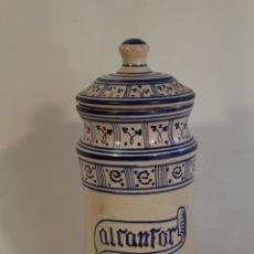 Antigüedades: ANTIGUO ALBARELO,TARRO DE FARMACIA,MANISES LAHUERTA,SELLADO EN LA BASE . Lote 97827571