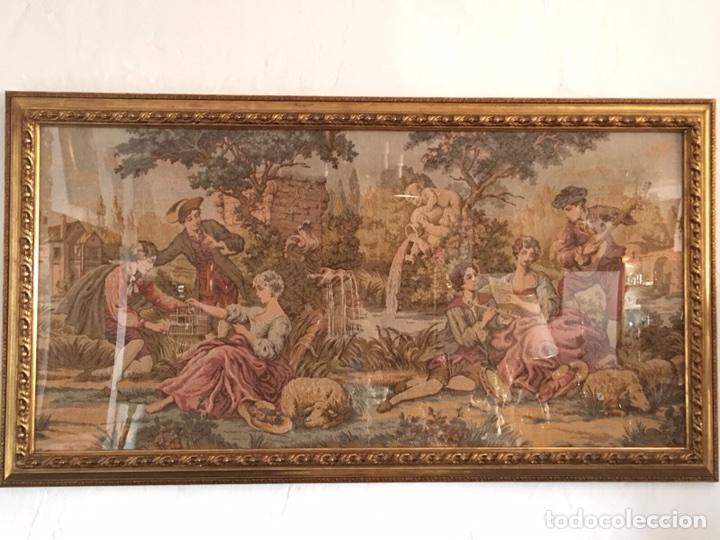 Antigüedades: GRAN TAPIZ ENMARCADO - Foto 2 - 97836331
