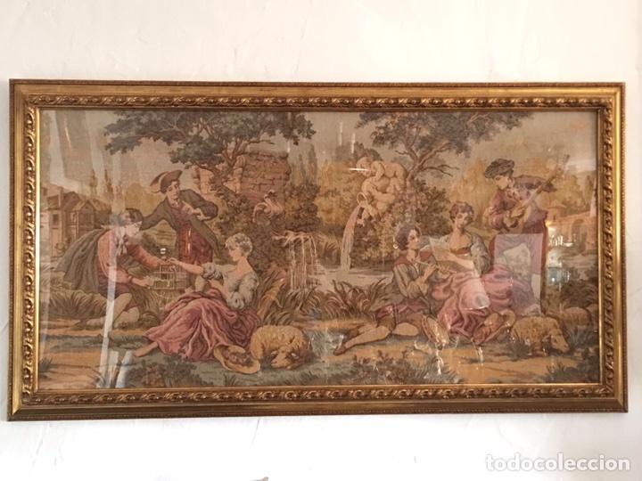 Antigüedades: GRAN TAPIZ ENMARCADO - Foto 3 - 97836331