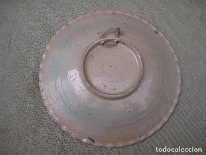 Antigüedades: PLATO ANTIGUO EN CERAMICA DE PUENTE DEL ARZOBISPO ( TOLEDO ) - Foto 3 - 97848871