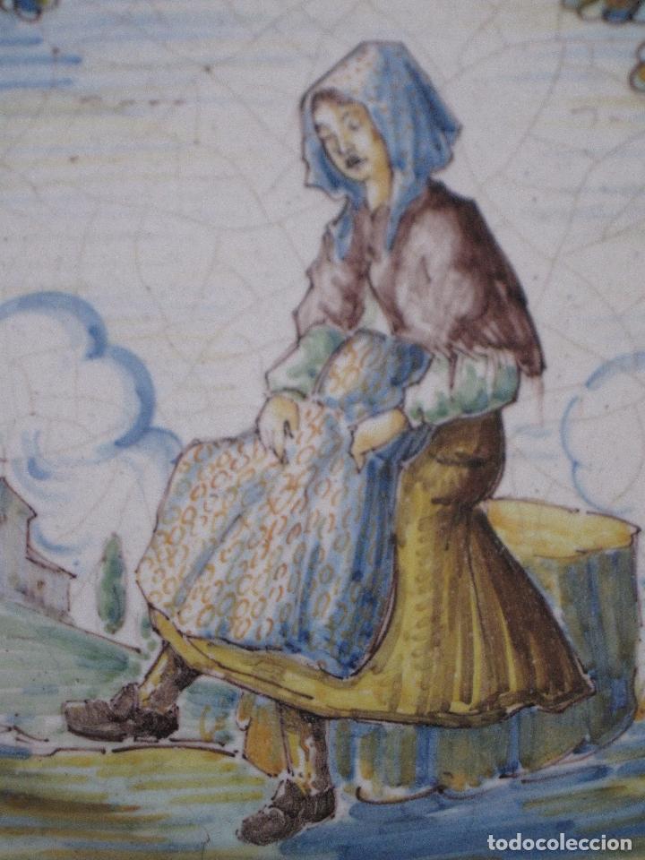 Antigüedades: PLATO ANTIGUO EN CERAMICA DE RUIZ DE LUNA. - PRIMERA EPOCA - TALAVERA ( TOLEDO ) - Foto 2 - 197813291