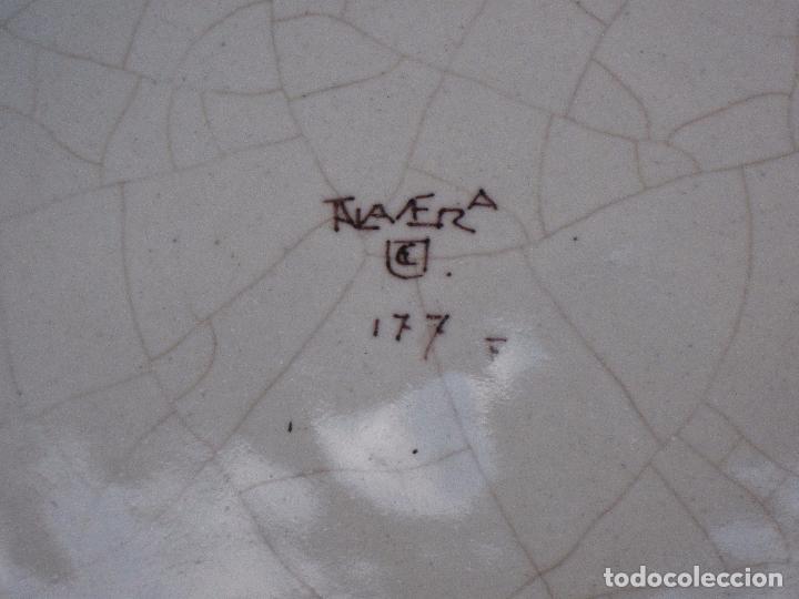 Antigüedades: PLATO ANTIGUO EN CERAMICA DE RUIZ DE LUNA. - PRIMERA EPOCA - TALAVERA ( TOLEDO ) - Foto 5 - 197813291