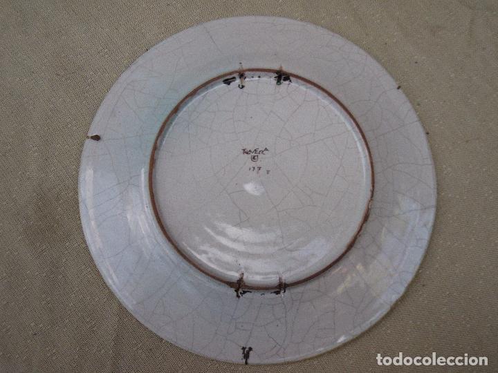 Antigüedades: PLATO ANTIGUO EN CERAMICA DE RUIZ DE LUNA. - PRIMERA EPOCA - TALAVERA ( TOLEDO ) - Foto 6 - 197813291