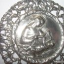 Antigüedades: ANTIGUA Y MUY GRAN MEDALLA DE PLATA DE LEY CON CONTRASTES..FV + ESTRELLA....PERFECTO ESTADO.. Lote 97852655