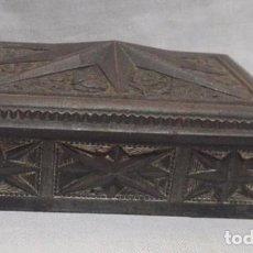 Antigüedades: PRECIOSA CAJA - JOYERO - PASTILLERO - CAJITA DE HOJALATA. Lote 97866679