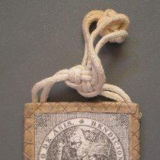 Antigüedades: ANTIGUO ESCAPULARIO SAN FRANCISCO DE ASIS CON BENDICIÓN. Lote 97869943
