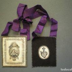 Antigüedades: ANTIGUO ESCAPULARIO MATER DOLOROSA, . Lote 97877743