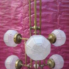 Antigüedades: LAMPARA XXXL VIP ANTIGUA ART DECO CIRCA 1870 RESTAURADA. Lote 97878619