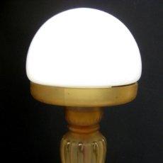 Antigüedades: LAMPARA ANTIGUA ART DECO CON QUINQUE CIRCA 1840 ELECTRIFICADA . Lote 97882655