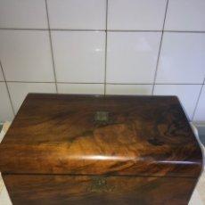 Antigüedades: ANTIGUA ESCRIBANÍA DE PALO SANTO. Lote 97911751