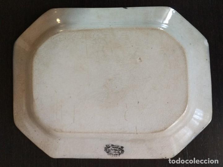 Antigüedades: BANDEJA CARTAGENA ESCENA DE CAZA DOBLE SELLO - Foto 2 - 111630311
