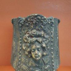Antigüedades: TERRACOTA MODERNISTA JARRÓN PATINADO. Lote 97933019