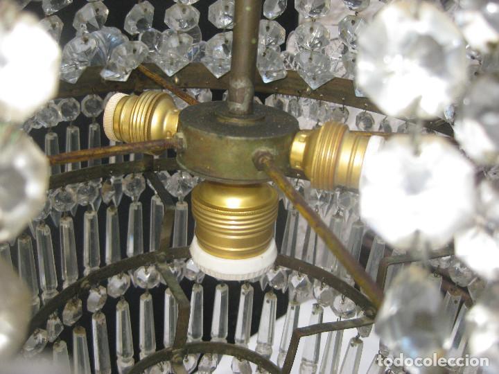 Antigüedades: FANTASTICA LAMPARA ANTIGUA 1920 RESTAURADA CRISTAL BACCARAT FRANCIA VINTAGE Y BOHEMIA - Foto 6 - 97940591