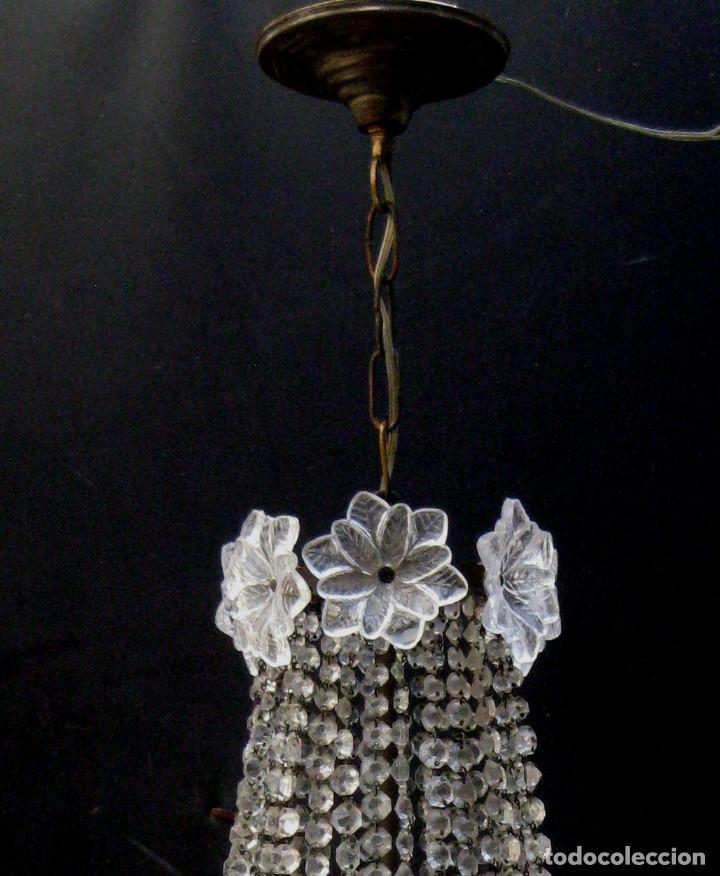 Antigüedades: FANTASTICA LAMPARA ANTIGUA 1920 RESTAURADA CRISTAL BACCARAT FRANCIA VINTAGE Y BOHEMIA - Foto 7 - 97940591