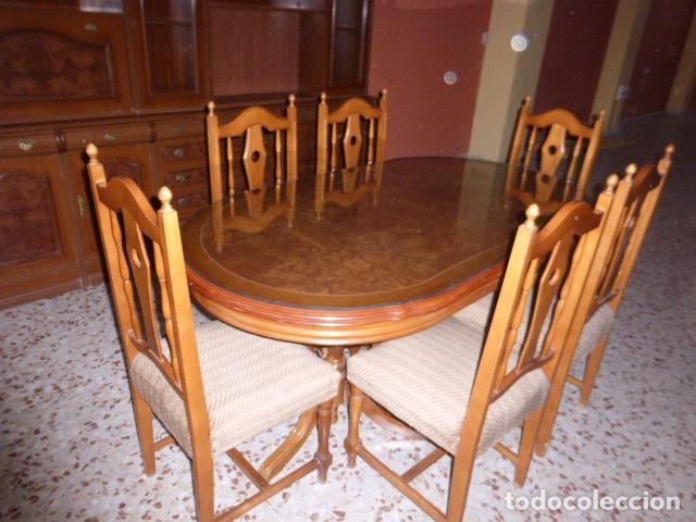 mesa de comedor oval extensible con 6 sillas. - Comprar artículos de ...