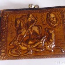 Antigüedades: BILLETERA DE CUERO REPUJADO. Lote 97948167