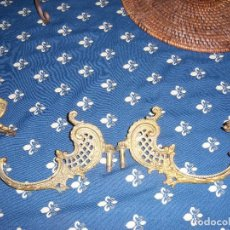 Antigüedades: PORTAVELAS DE PIANO EN BRONCE. Lote 97971091
