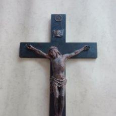 Antigüedades: CRUCIFIJO, CRUZ, CRISTO, JESUCRISTO - MADERA Y PLASTICO - 47 X 35 CM. . Lote 97972115