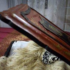 Antigüedades: ESPECTACULAR MANTON DE MANILA TIPO CANTONES DE CHINOS BORDADO MANO DOBLE CARA CON SU CAJA ORIGINAL. Lote 97986787