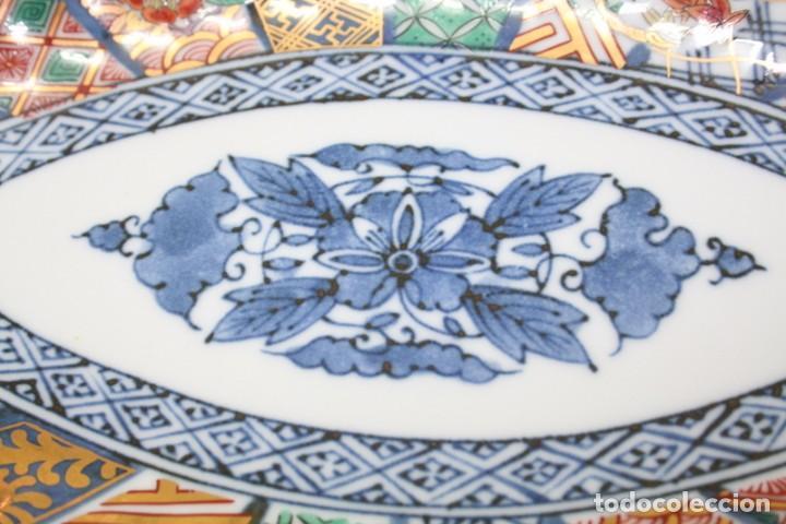 Antigüedades: antiguo plato de porcelana japonesa imari - Foto 2 - 118261846