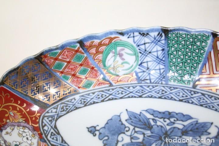 Antigüedades: antiguo plato de porcelana japonesa imari - Foto 4 - 118261846