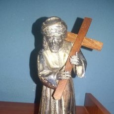 Antigüedades: ANTIGUO CRISTO EN PLATA O ALPACA. Lote 98041831