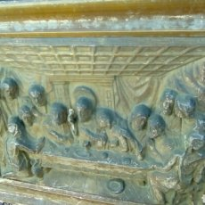 Antiquitäten - Cuadro Relieve metal santa cena - 98042032