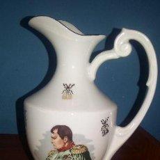 Antigüedades: JARRA DE PORCELANA FRANCESA LIMOGE CON ADORNOS EN ORO DE 24 KILATES. Lote 98046351