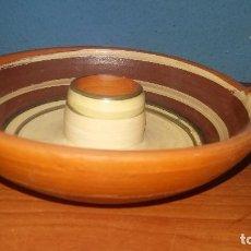 Antigüedades: PORTAVELAS DE TERRACOTA REALIZADO EN TERUEL. Lote 98053547
