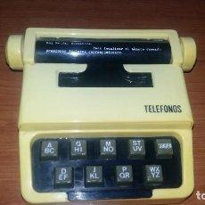 Antigüedades: AGENDA DE TELÉFONOS ANTIGUA MARCA IBENI. Lote 98056343