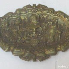 Antigüedades: BANDEJA PLACA DE BRONCE DE LA CIUDAD DE VALENCIA. Lote 98069599